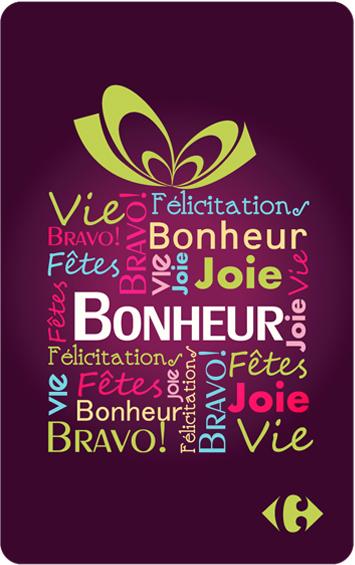 Carte Cadeau Que Du Bonheur.Carte Cadeau Bonheur Cartes Cadeaux Carrefour