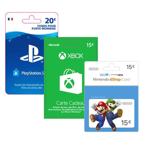 Carte Cadeau Xbox 50.Cartes Cadeaux Thematiques Cartes Cadeaux Carrefour